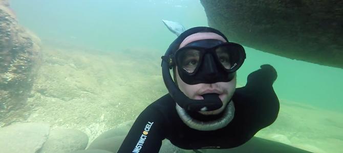 Holmhällar – underwater rauks