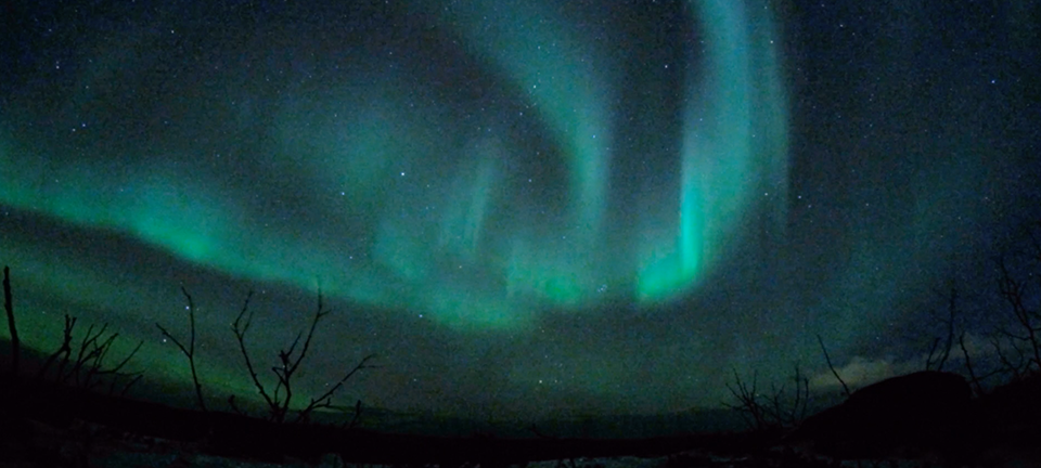 northern light timelapse