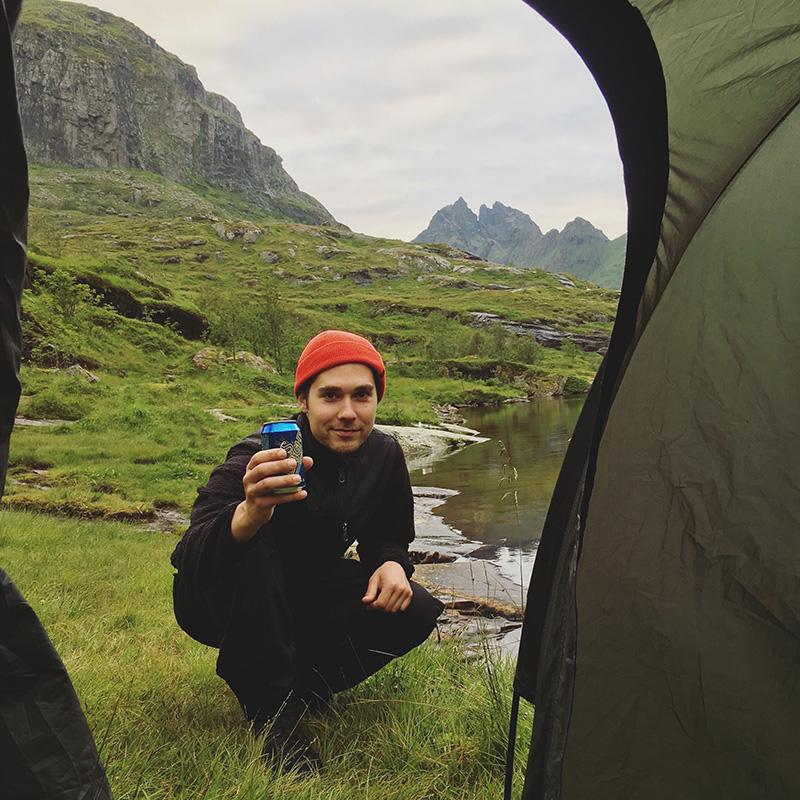 tent camping lofoten